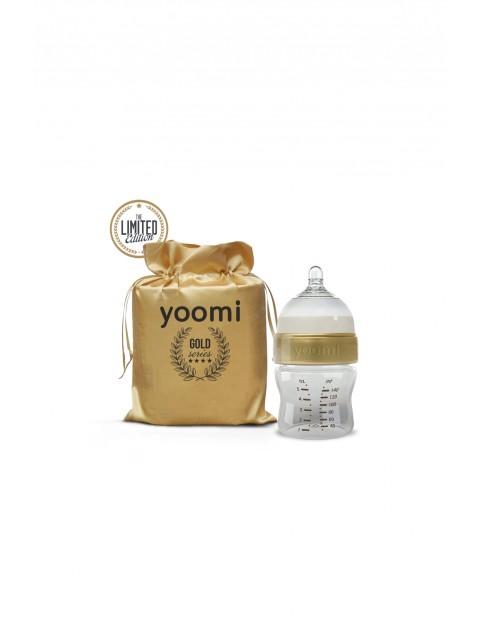 Butelka ze smoczkiem Yoomu Gold&Black 140ml