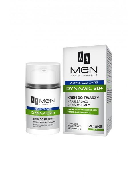 AA Men Advanced Care Dynamic 20+ Krem do twarzy nawilżająco-orzeźwiający 50 ml
