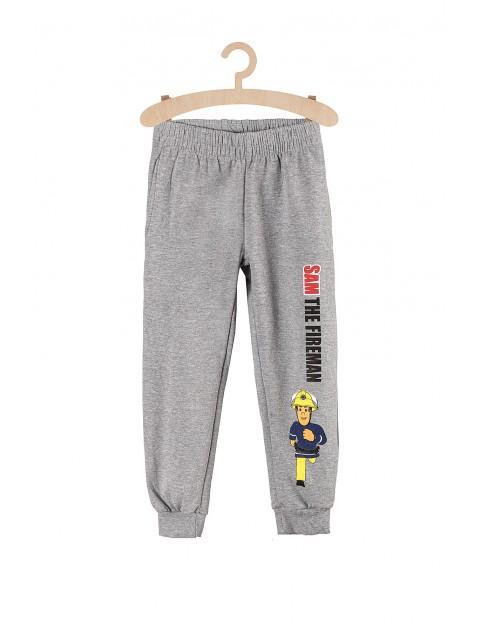 Spodnie chłopięce dresowe szare Strażak Sam