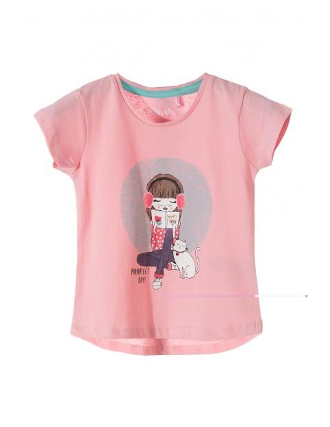 T-shirt dziewczęcy bawełniany 3I3517