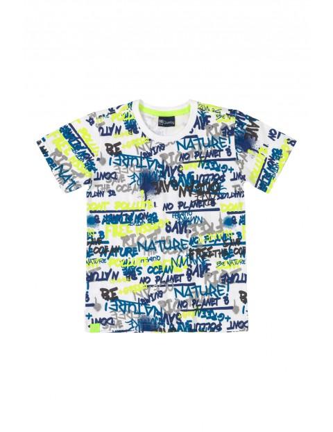 T-shirt chłopięcy z nowoczesnym nadrukiem