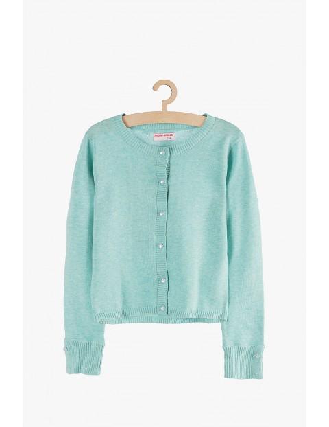 Sweter dziewczęcy z ozdobnymi guzikami