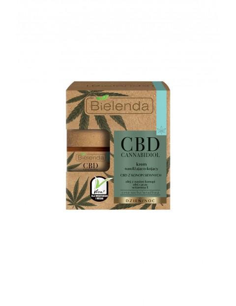 CBD Cannabidiol Krem nawilżająco.-kojący z CBD z konopi siewnych cera sucha, wrażliwa Bielenda - 50 ml