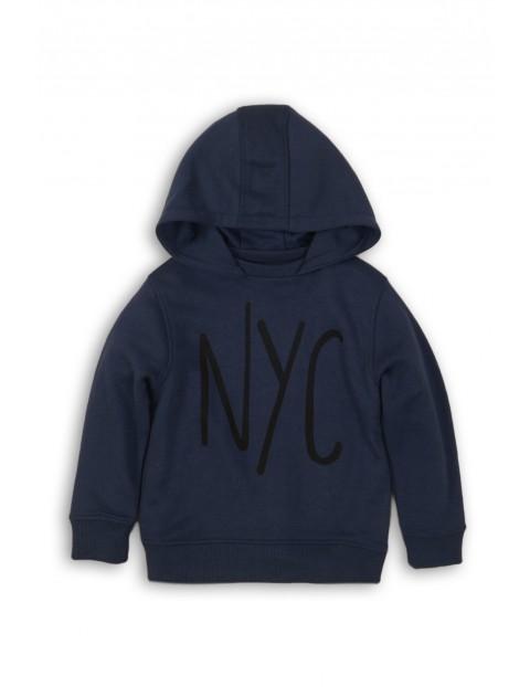 Bluza dresowa chłopięca granatowa z napisem NYC