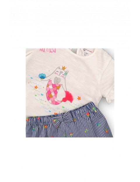 Komplet niemowlęcy bawełniany bluzka i spodenki