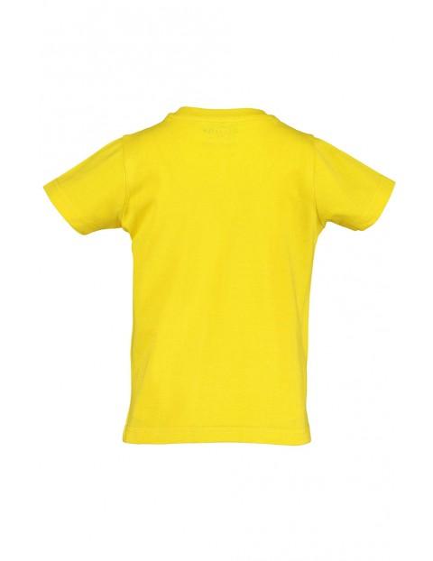 Koszulka chłopięca żółta z motorem