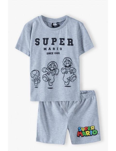 Piżama chłopięca Super Mario szara