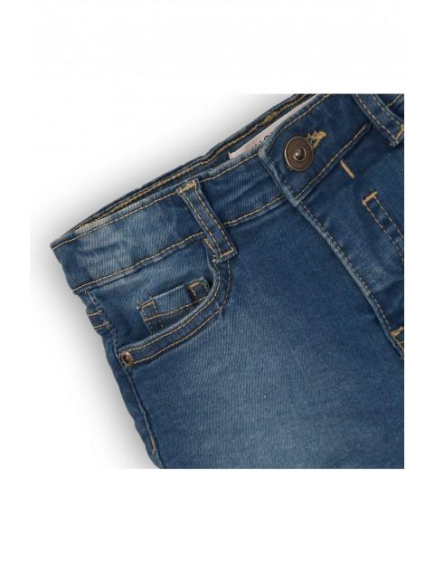 Szorty jeansowe dla niemowlaka-niebieskie