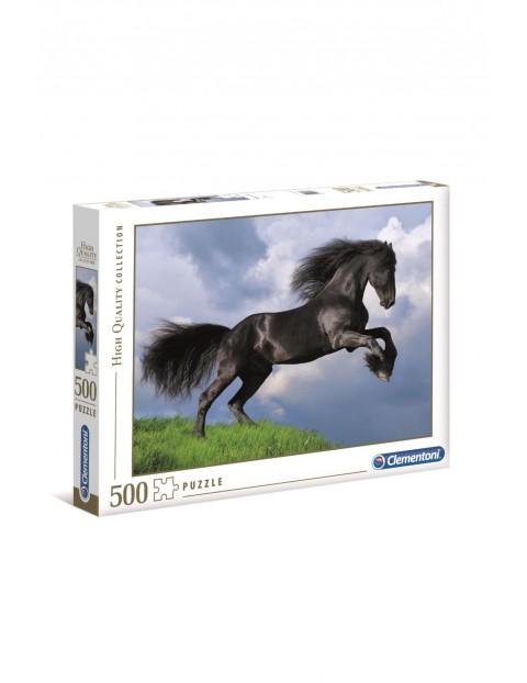 Puzzle Czarny koń - 500 elementów