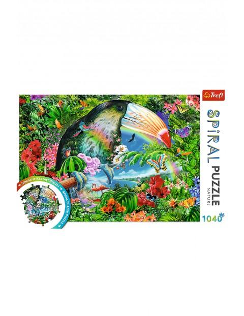 Puzzle Spiral - Tropikalne zwierzęta - 1040 elementy