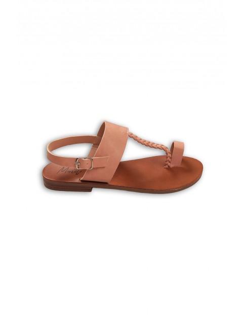 Różowe sandało-japonki dziewczęce