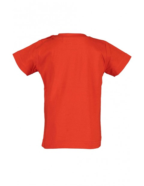 Koszulka chłopięca czerwona z koparką