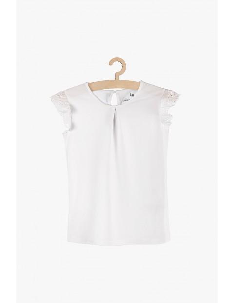 Bluzka dziewczęca biała z krótkim rękawem