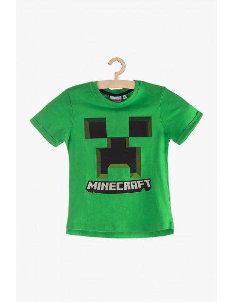 Zielony t-shirt dla chłopca - Minecraft