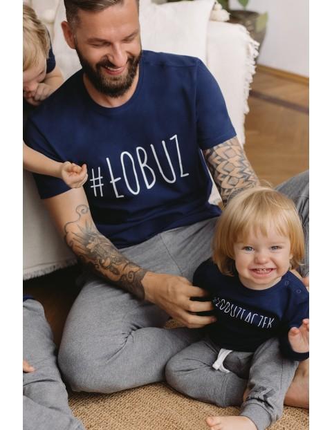T-shirt męski z napisem- Łobuz