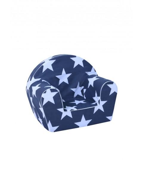 Granatowy fotelik w błękitne gwiazdki