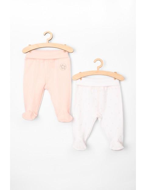 Półśpiochy niemowlęce różowe 2-pak 100% bawełna