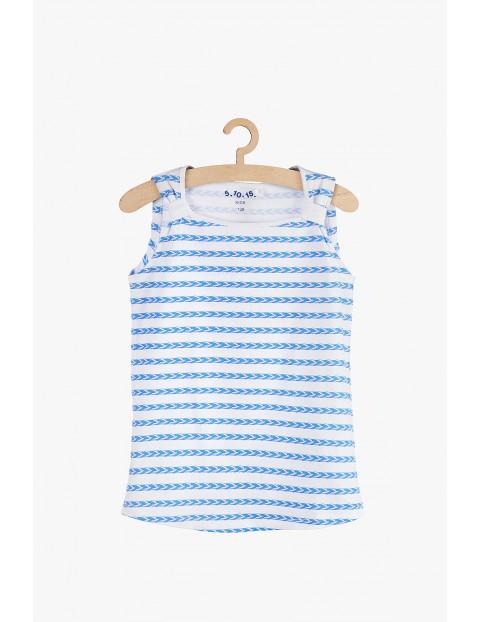 Koszulka dziewczęca na lato w marynistyczne wzory