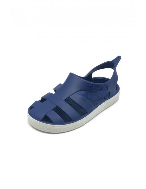 Niebieskie sandałki dla dziecka- zapach startej skórki cytryny