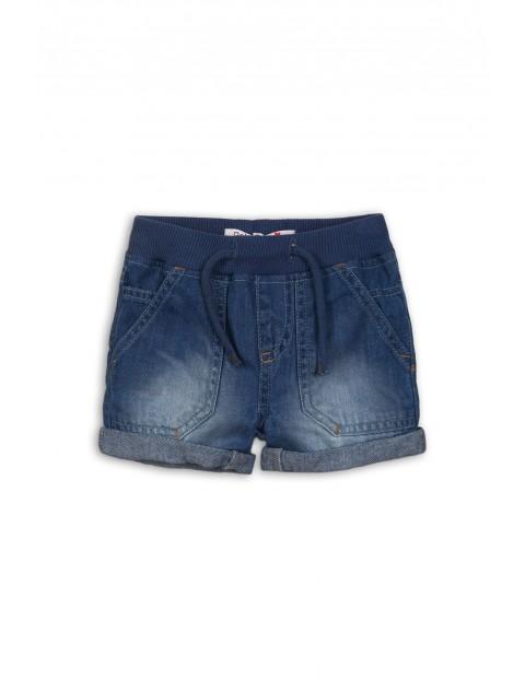 Szorty niemowlęce jeansowe cienkie