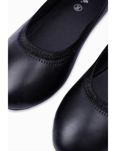 Buty balerinki dziecięce - czarne