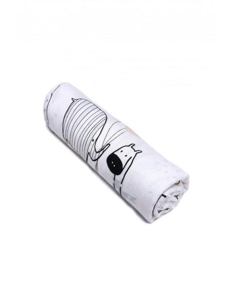 Otulacz bambusowy z antybakteryjnymi jonami srebra- Muślinowy 110x110cm