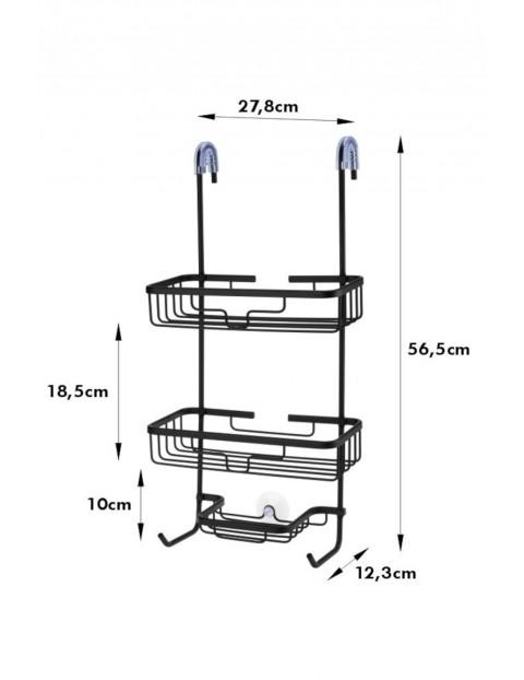 Półka łazienkowa 3 poziomowa pod prysznic Shower - czarna