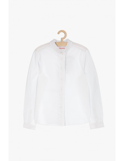 Biała elegancka koszula ze stójką