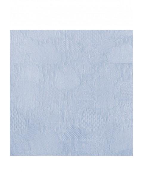 Pieluszka bambusowa 120×120 cm - niebieska
