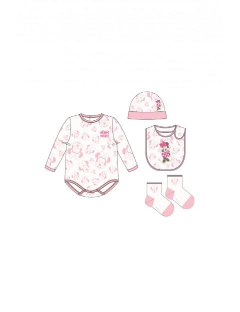 Wyprawka body niemowlęce i akcesoria - różowe Minnie