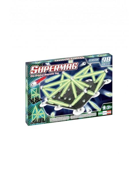 Klocki magnetyczne Supermag Classic Glow 98el wiek 3+