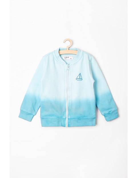 Bluza rozpinana niemowlęca niebieska