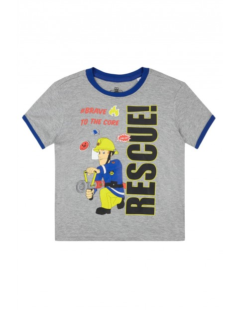 Koszulka chłopięca Strażak Sam-kolorowy nadruk