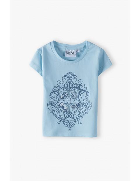 T-shirt dziewczęcy Harry Potter- niebieski
