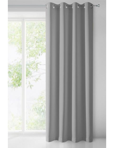 Zasłona jednokolorowa zaciemniająca - szara - 135x250cm