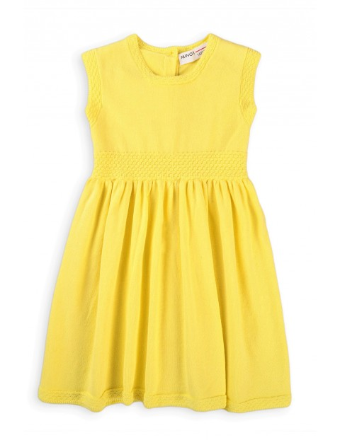 Bawełniana sukienka niemowlęca żółta