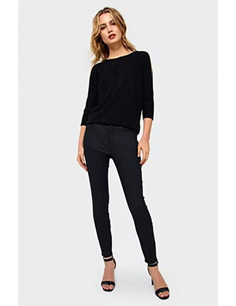 Spodnie damskie - czarne slim