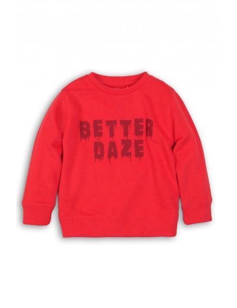 Bluza dresowa dla chłopaka - koralowa