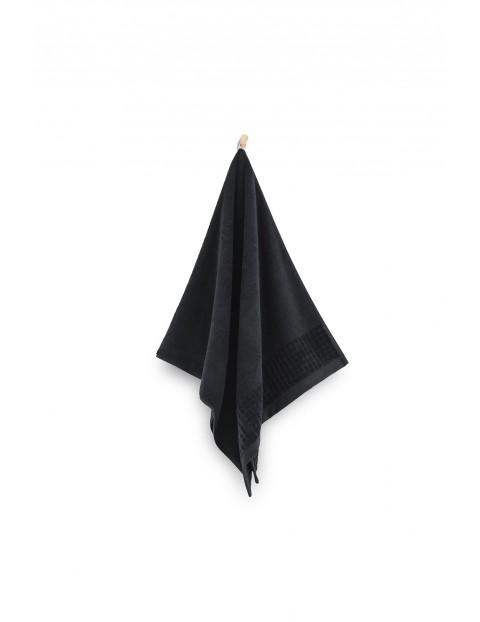 Ręcznik Paulo z bawełny egipskiej czarny 70x140 cm