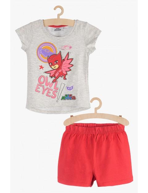 Pidżama dla dziewczynki szaro-czerwona - Pidżamersi