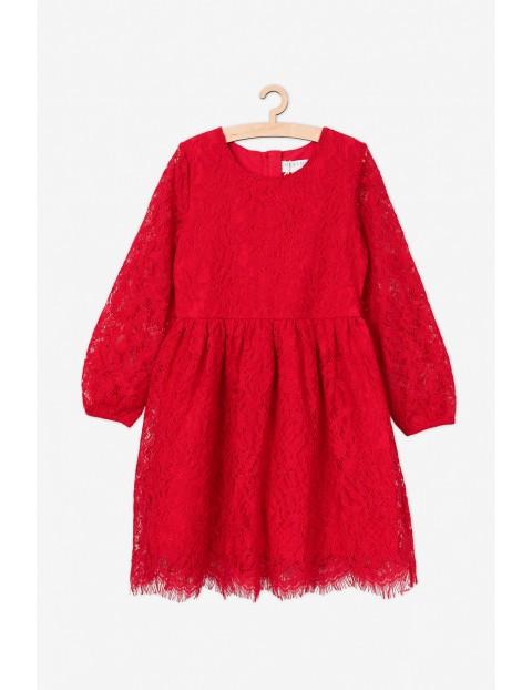 Koronkowa elegancka sukienka dla dziewczynki