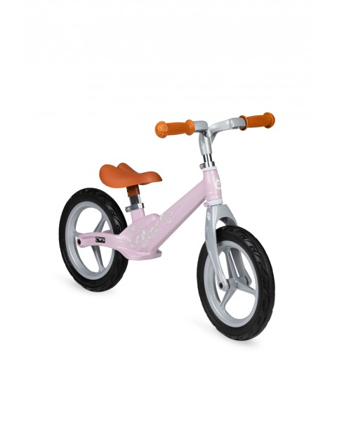 Ultralekki rowerek ze stopu magnezu MoMi ULTI - rózowy piórka