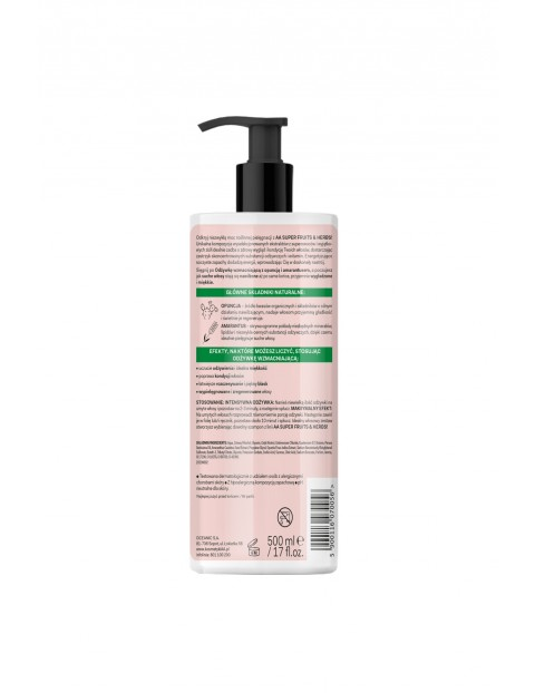 AA Super Fruits&Herbs odżywka wzmacniająca włosy suche i łamliwe opuncja&amarantus 500 ml