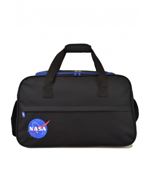 Torba fitness NASA czarno-niebieska