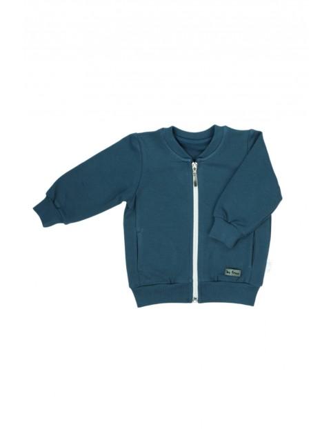 Bluza chłopięca rozpinana w kolorze morskim