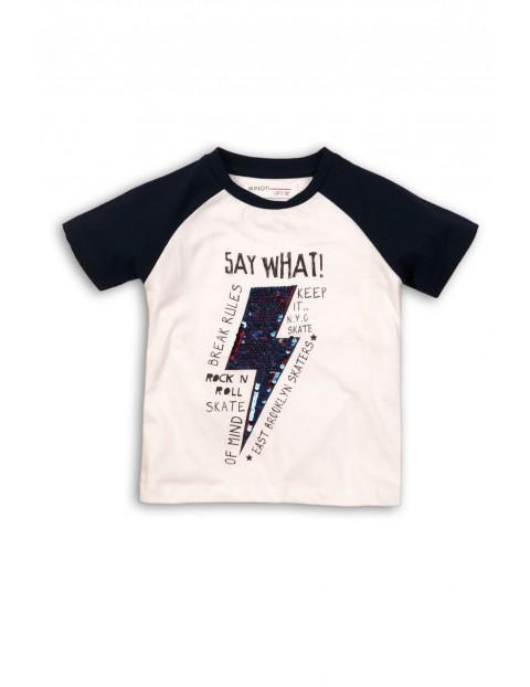 T-shirt dla niemowlaka z cekinami