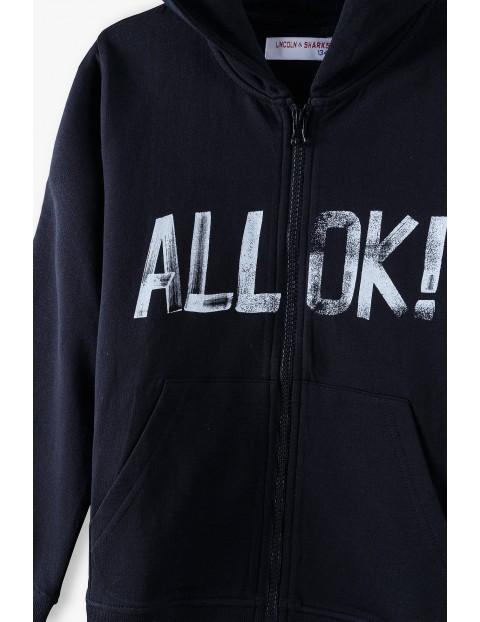 Bawełniana bluza dresowa z kapturem - All OK