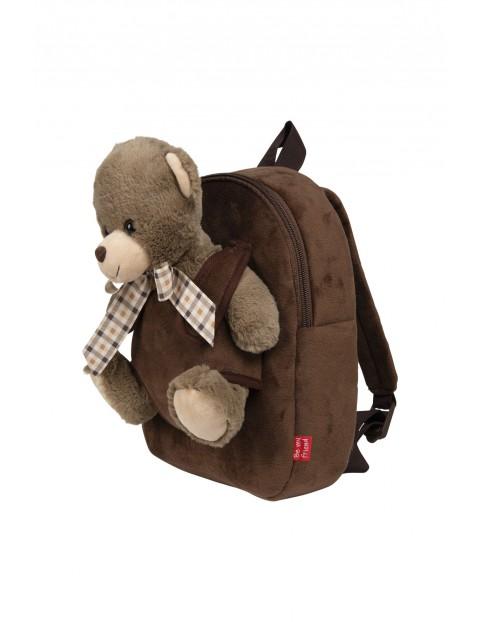 Plecak super miękki z przytulanką - Tommy Miś wiek 2+