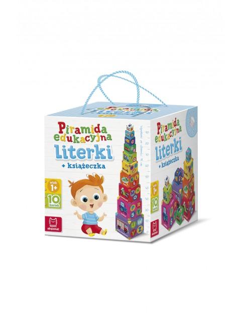 Piramida edukacyjna literki + książeczka wiek 1+