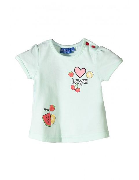 Tshirt niemowlęcy w owocowe nadruki